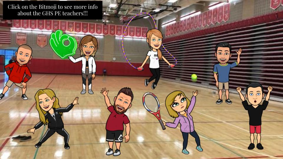 Meet your PE Teachers Virtually